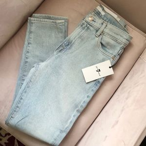 NWT 7 For All Mankind high waist slim jeans